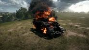 BF1 Mark V Landship Destroyed Back