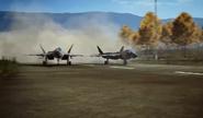 Attack jet take off