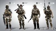 Battlefield 4 American Character Models