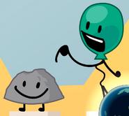 Local balloon adopts a rock