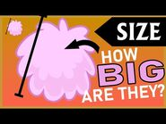 Calculating the real-life dimensions of BFDI characters