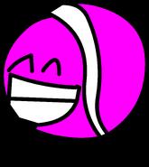 Hot Pink Tennis Ball