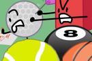 8-Ball and Golf Ball 18.,
