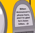 Announcer's Phone text