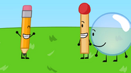 Bubble pencil match