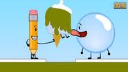 Bubble tastes Pencil's Ice Cream