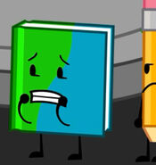 Book being worried while Pencil