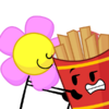 Flower touching fries