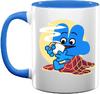 Four's Blue Christmas Mug 2