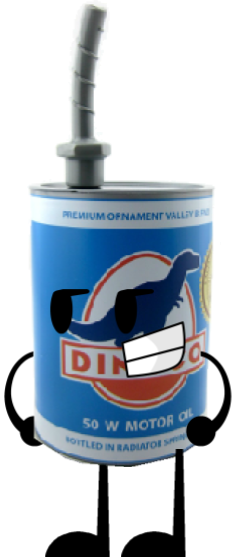 Blue Dinoco Oil Can Slipper