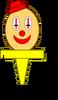 Clown Head Cupcake Topper (Pose)