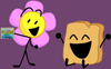 Flower cheers Woody up by giving her BFDI to him