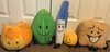 Firey, Firey Jr, Leafy, Pen and Woody plush