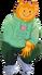 Human Sized Firey wearing Oh For Petal Sake Sweater