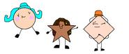 Shelly Circle, Chocolatey Star and Boat Diamond