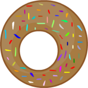 Chocolate Donut Big O Left