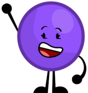 Purple ball's new pose