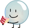 Bubble holding cake