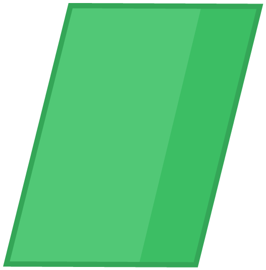 Smaragdine-colored Parallelogram That's Leaned Towards The Right