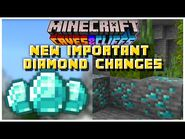 NEW EXCITING Diamond Changes Information Revealed - Minecraft 1
