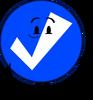 Blue Check Ball (Pose)