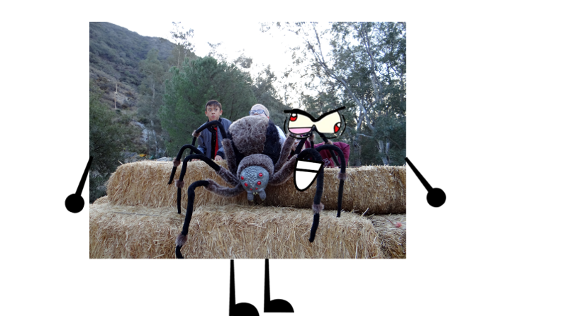 Picture of Kids Freaking Out Over a Fake Spider