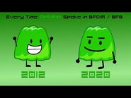 Every time Gelatin spoke in BFDIA - BFB! -Evolution of Gelatin's Voice- -up to BFB 26!-