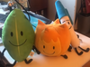 Firey, Leafy and Pen plush