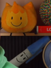 Firey and Pen plush shown in BFB 28 credits