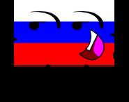 RUSSIA fLAG pOSE