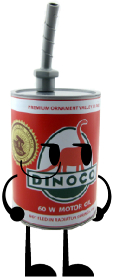 Red Dinoco Oil Can Slipper