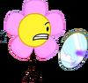 Flower holding mirror