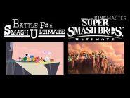 Battle for smash ultimate and super smash Bros ultimate side by side