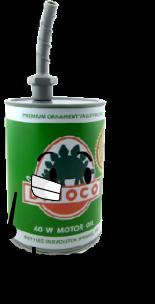 Green Dinoco Oil Can Slipper