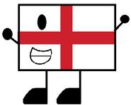 England Flag Pose