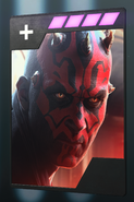 SWBFII DICE Boost Card Darth Maul - Fool Me Once