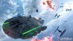 Battlefront тысячелетний сокол в воздухе