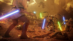 Obi-Wan and Grievous on Geonosis - Battlefront II