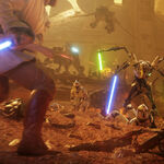 Obi-Wan and Grievous on Geonosis - Battlefront II.jpg