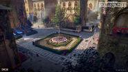 Naboo Concept Art - Theed Courtyard - Joseph McLamb