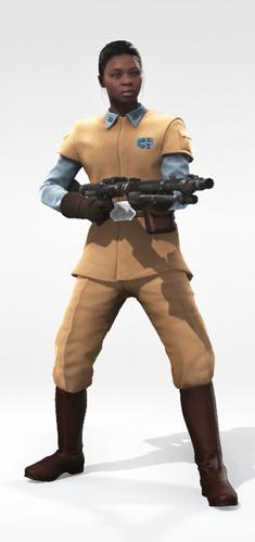 Human 1 Rebel Officer Ponytail