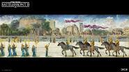 Naboo Concept Art - Royal Palace Painting Convoy - Anton Grandert
