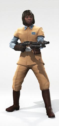 Human 1 Rebel Officer Bob Cut 2