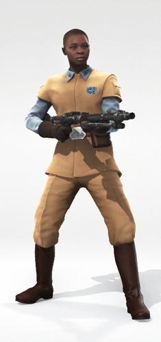 Human 1 Rebel Officer Bald