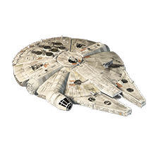 Rey and Chewbacca's Millennium Falcon
