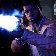 Finn with blaster