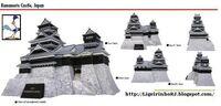 Castle-kumamoto castle paper d mo