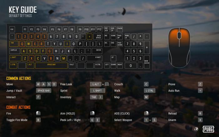 Controls - Official PLAYERUNKNOWN'S BATTLEGROUNDS Wiki