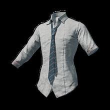 School Shirt with Blue Necktie.png