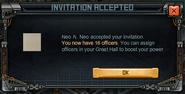 Invitation accepted